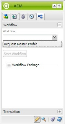 Screenshot of the Workflow selection within Page Properties.