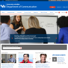 Screenshot of the Department of Communication website.