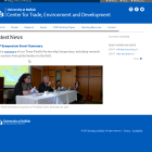 Center for Trade, Environment and Development website .