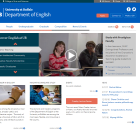 Screenshot of Department of English site.