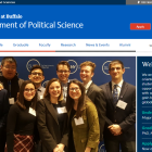 Department of Political Science screenshot.