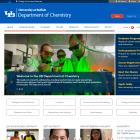 Department of Chemistry screenshot.