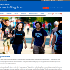 Department of Linguistics website.