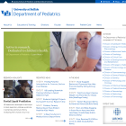 Screenshot of Pediatrics website.