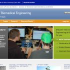 Screenshot of Department of Biomedical Engineering site.