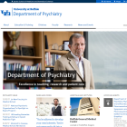 Screenshot of the Department of Psychiatry website.