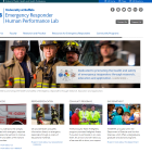 Screenshot of Emergency Responder and Human Performance Lab site.