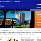 Screenshot of Facilities Website.
