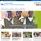 Screenshot of SPHHP's Office of Global Health Initiative website.