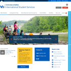 International Student Services screenshot.