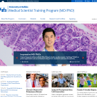 Screenshot of the Medical Scientist Training Program website.