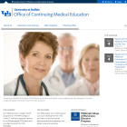 Screenshot of the Office of Continuuing Medical Education.