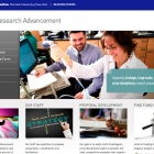 screenshot of the Office of Research Advancement website.
