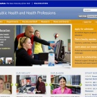 screenshot of the School of Public Health and Health Professions website.