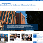 screenshot of the School of Medicine website.