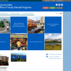 Screenshot of Study Abroad site.