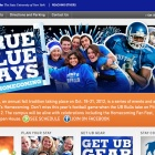 Screenshot of the True Blue Days website.