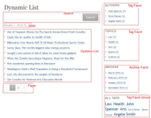 Overview of the dynamic list example, identifying the various components in use.